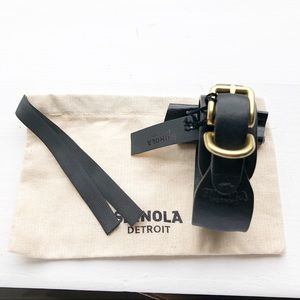 Shinola Detroit Wrap around Leather Bracelet NEW